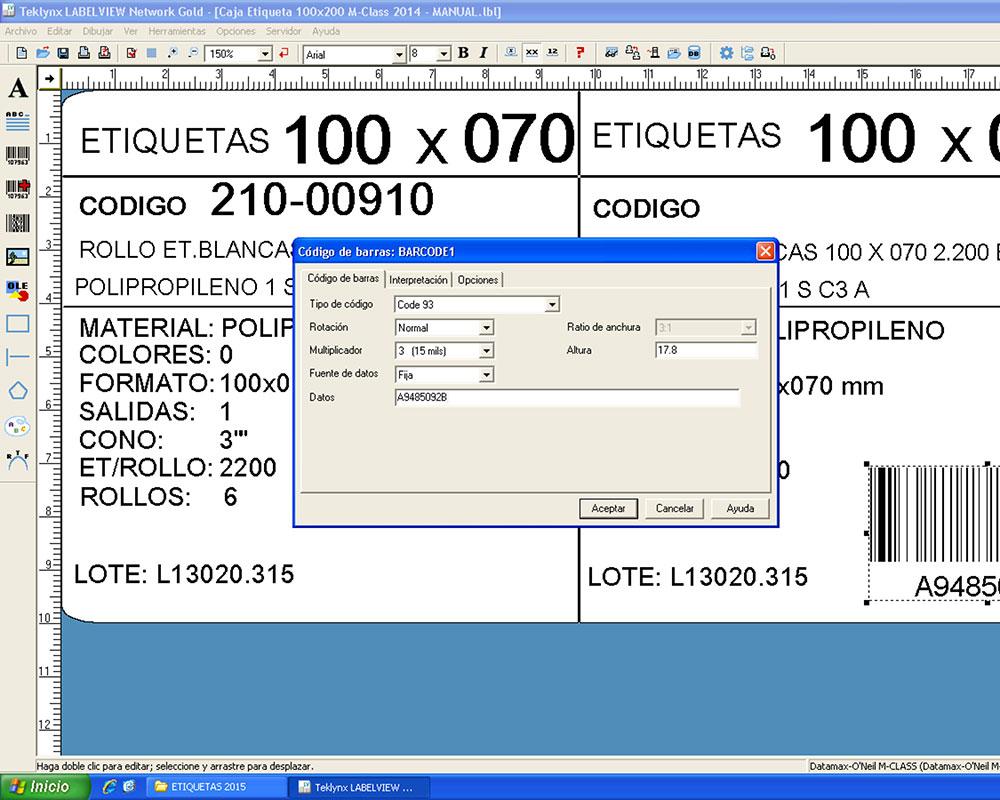 Software & Control de Etiquetado